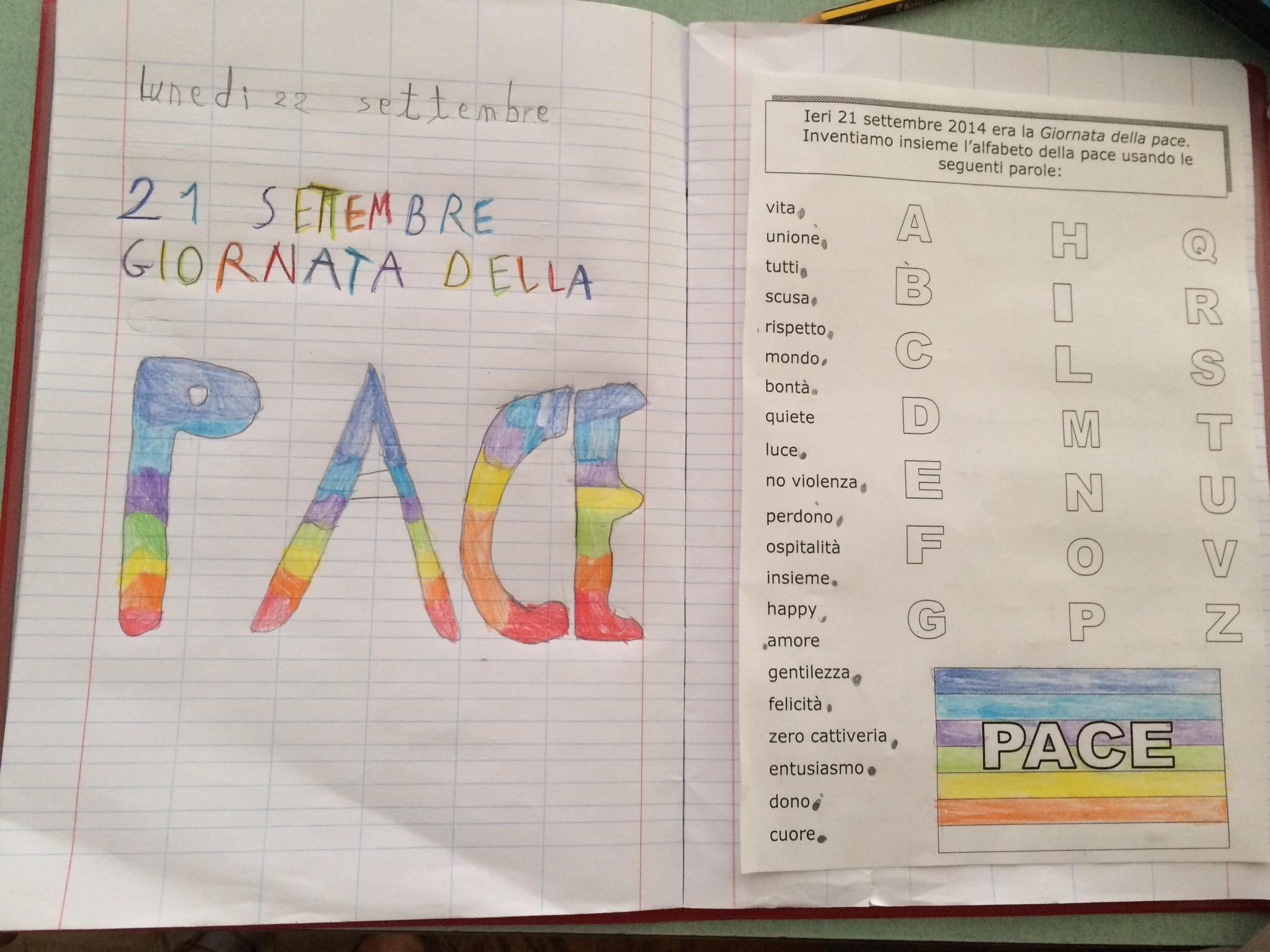 Préférence Alfabeto della PACE : lamaestraelena.it OY79