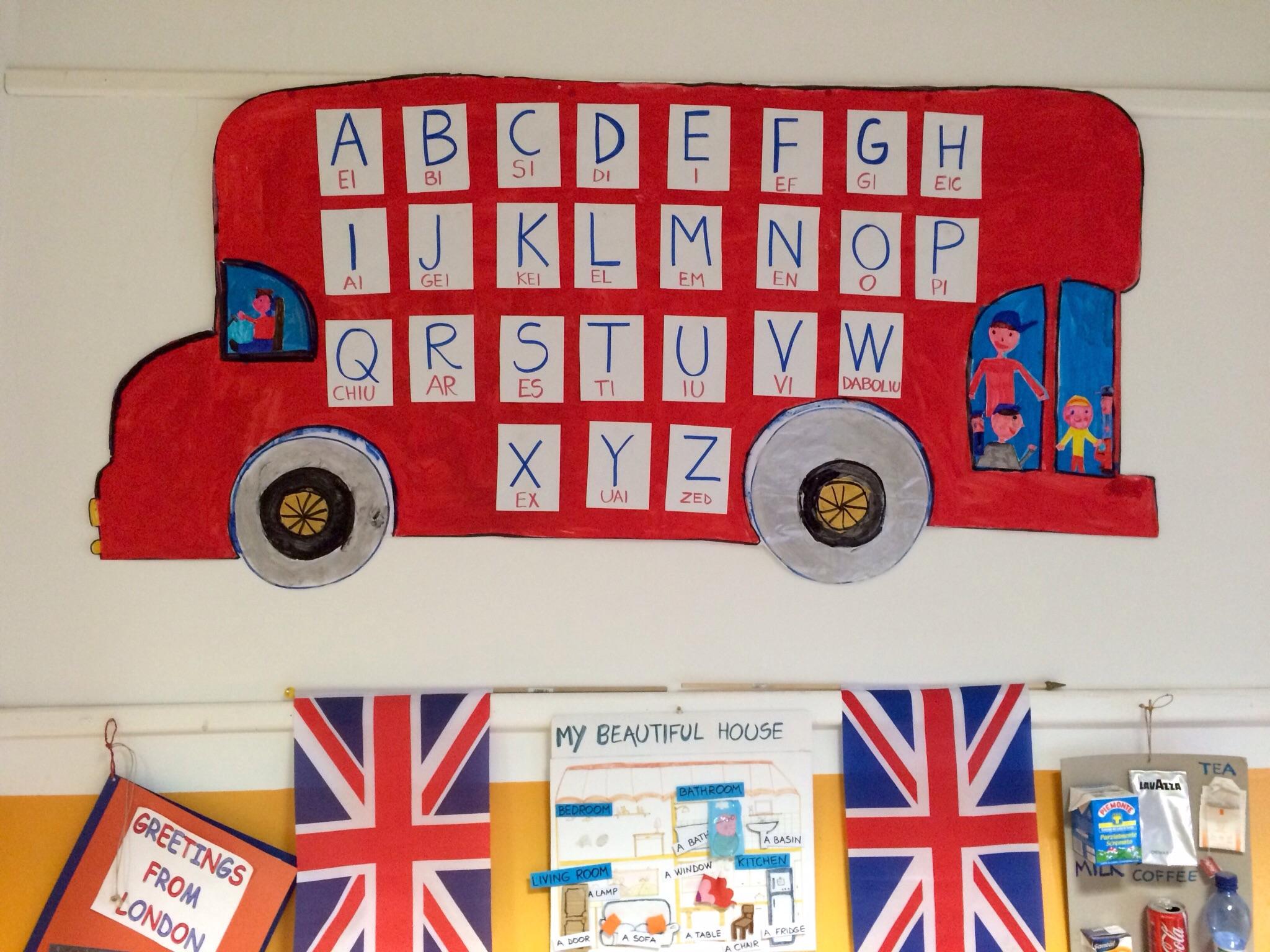 Favoloso Il bus con l'alfabeto inglese!! : lamaestraelena.it WO72